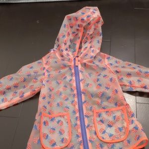 Cat and Jack clear lady bug raincoat size 12 month